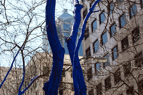 Westlake Park - Yes they really did dye the trees blue | by Hammerin Man