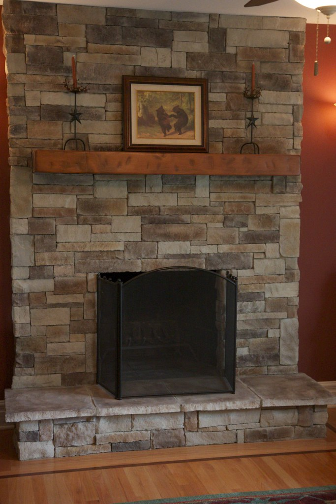 Ledge Stone Fireplace | Ledge stone fireplace. Our stone ven… | Flickr