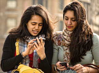 Friends with Mobile Phones | by garryknight