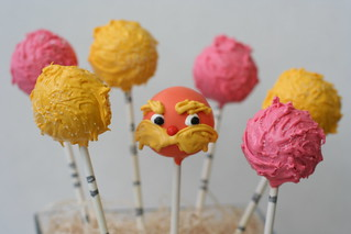 Lorax and Truffula Tree Cake Pops | by Sweet Lauren Cakes