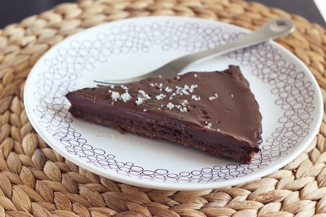 Salted Chocolate Tart - Gluten-free, Grain-free + Vegan