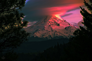 Sunset Erupts on Mt. Hood | by GeorgeOfTheGorge