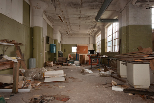 Messy Factory Floor Abandoned Barber Colman Factory In Ro