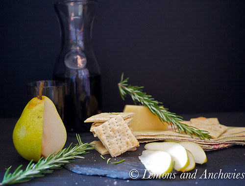 Rosemary Parmesan Crackers | by Lemons and Anchovies