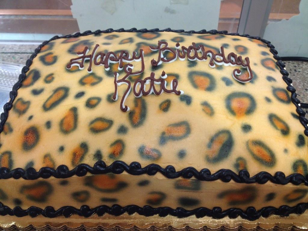 Cheetah Print Birthday Cake Misslandis Flickr