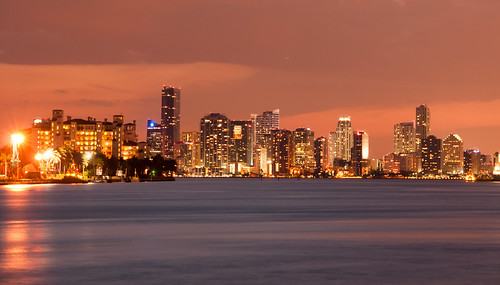 82 - Miami at Night across Biscayne Bay | by mashuqur