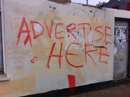 Advertise here | by Ben Terrett