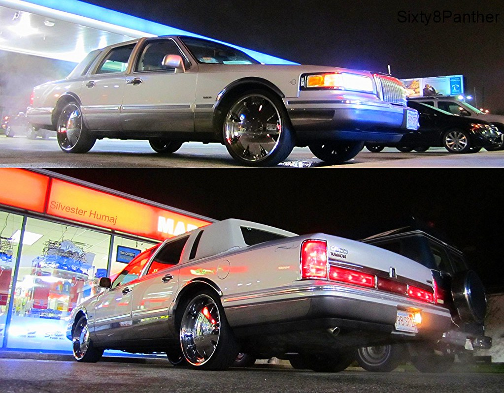 Rollin On 22 Rims 1997 Lincoln Town Car Cartier Edition