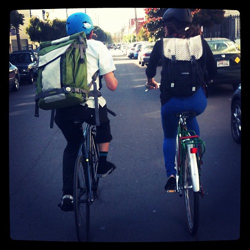 Timbuk2's Greg and Defne on Bike to Work Day | by Timbuk2 Designs