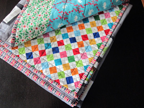 Remix Argyle and Modern Whimsy backings | by StitchedInColor