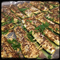 #baked #zucchini #homemade #CucinaDelloZio - toss fresh parsley on top!