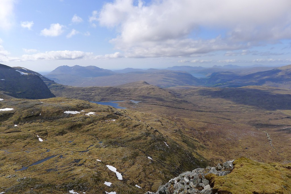 West from the NE ridge of Sgurr Mor