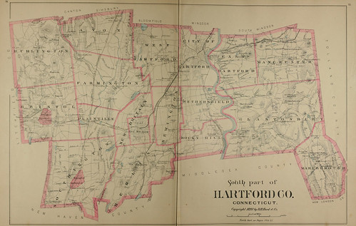 Page 42 and 43 of Town and city atlas of the State of Connecticut. / Compiled from government surveys, county records and personal investigations | by uconnlibrariesmagic