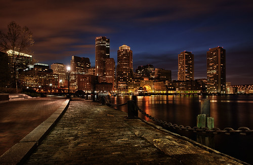 Boston Skyline At Blue Hour | by Michael Tuuk