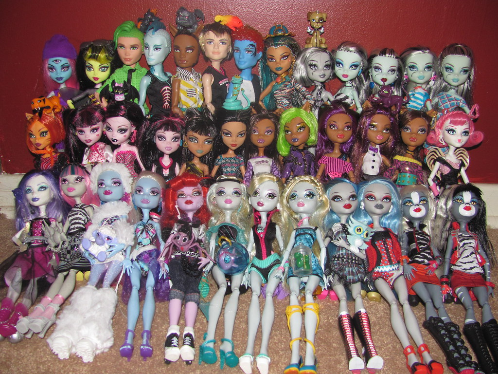 monster high dolls collection back row trinity create a flickr