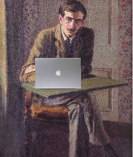 John Maynard Keynes Blogging, after Duncan Grant | by Mike Licht, NotionsCapital.com