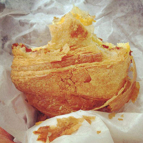 mmm crusty bacon egg and cheese croissant | by JAIME JAMEY JAMIE
