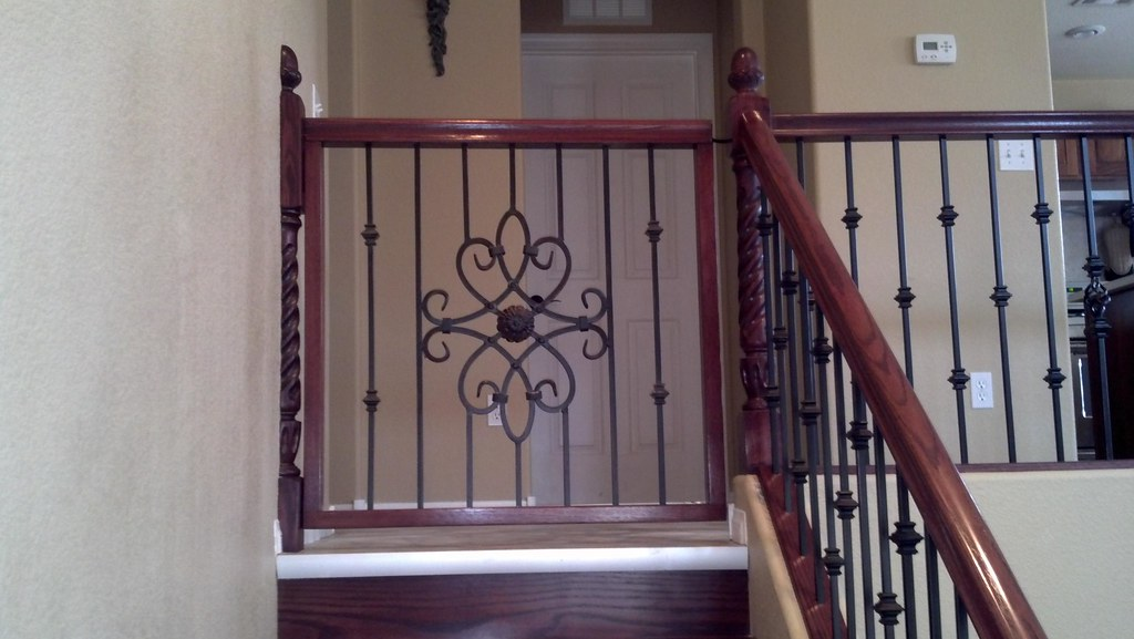 ... Wood And Iron Baby Gate | By JD Stairs