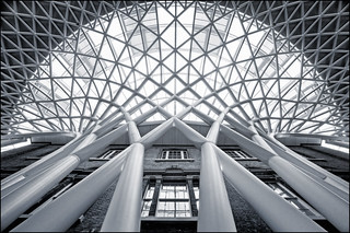 UK - London - Kings Cross - Looking up mono | by Darrell Godliman