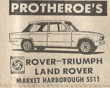 1975 garage advert british leyland main dealer protheroes for Garage market cars montpellier