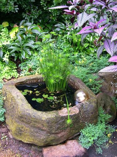 Water Garden In A Trough Hypertufa Planters Make Ideal