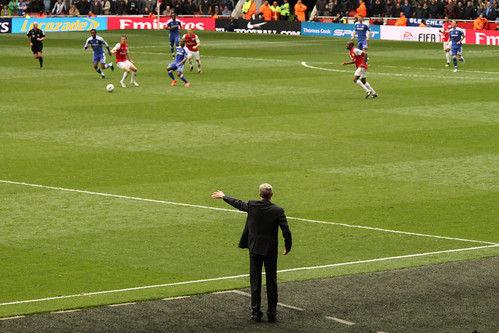 Arsene Wenger directs the troops