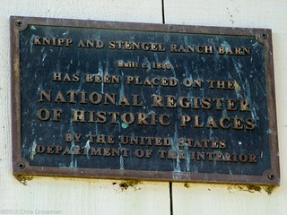 Knipp and Stengal Ranch Barn Historical Plaque - Olympus E-410 - Zuiko 40-150mm F/4-5.6 | by divewizard