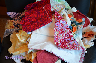 Remainder of fabric pile to be iron and sorted | by Jenniffier