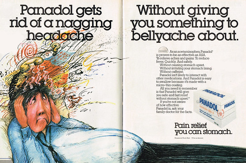 Vintage Ad #1,936: Stomaching Panadol | by jbcurio
