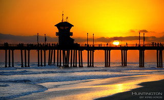 sunset at huntington beach | by Kris Kros