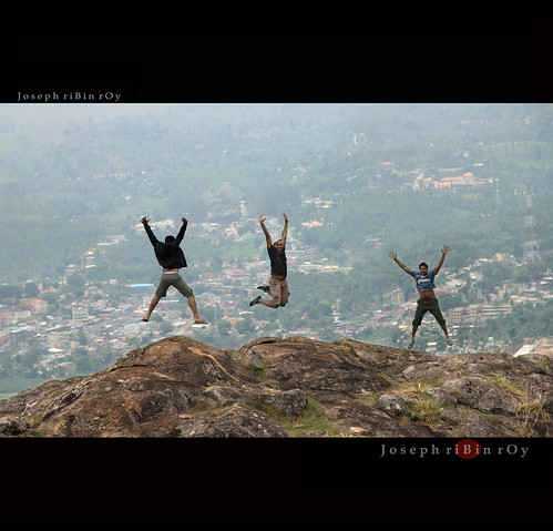 3 idiots atop Needle Rock - OOty | by ribinroy