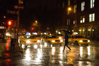 Crossing a rainy night of taxis | by Dan Nguyen @ New York City