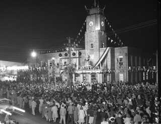 Coronation celebrations, Rockdale Town Hall, Sydney, 1953 / photographer Australian Photographic Agency | by State Library of New South Wales collection