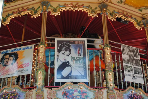 Audrey Hepburn on the Cannes carousel | by zawtowers