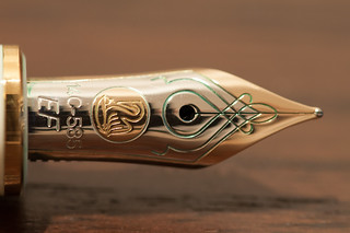 Pelikan nib with green | by srslyguys