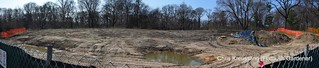 Panorama of the expansion site for the Brooklyn Botanic Garden Native Flora Garden | by Flatbush Gardener