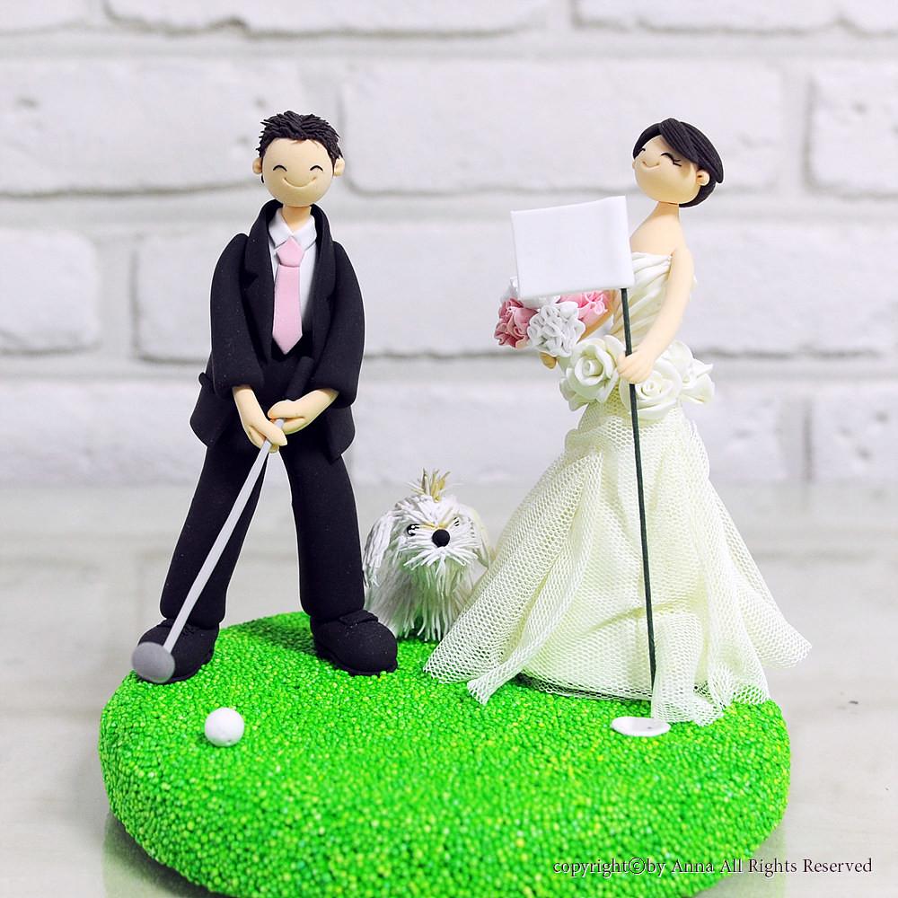 Golf mania couple wedding cake topper | Anna Cho | Flickr