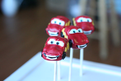 Lightening McQueen from Cars Cake Pops | by Sweet Lauren Cakes