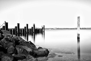 Pier in black and white [Explored] | by HenrikHansen