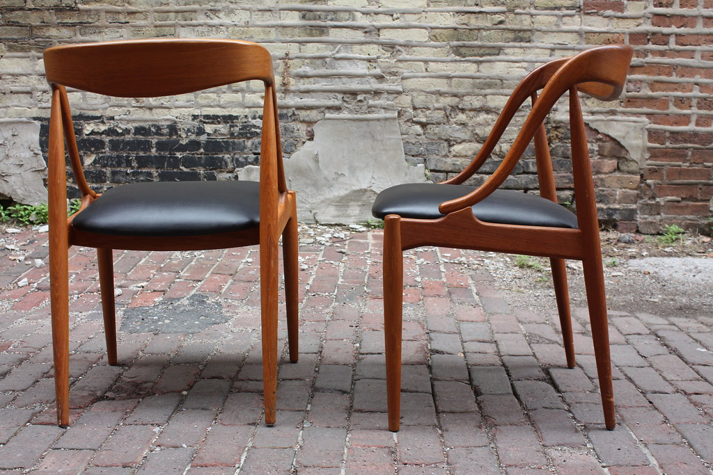 Breathtaking Johannes Andersen Danish Mid Century Modern Teak Dining Chairs  | By Kennyk@k2modern.