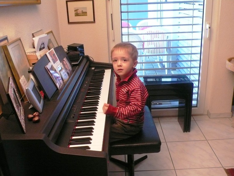 Lionel playing the piano