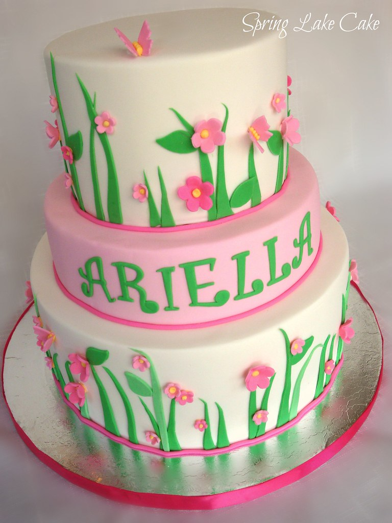 Spring Birthday Cake Spring Themed Birthday Cake Merissa Flickr