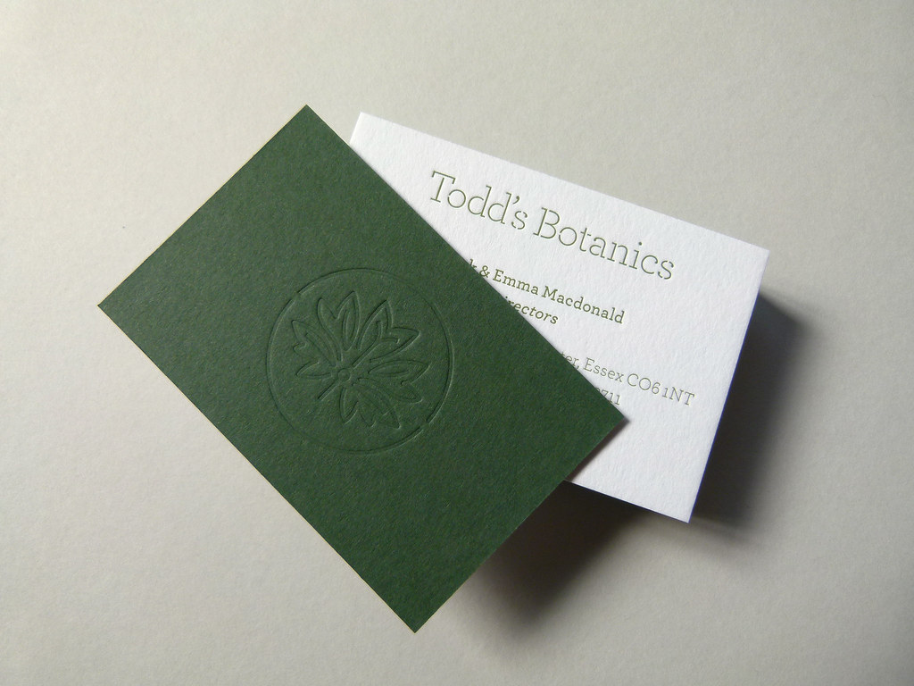Letterpress business cards printed & debossed onto 810gsm … | Flickr
