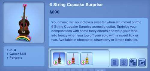 6 String Cupcake Surprise | by SimsVIP