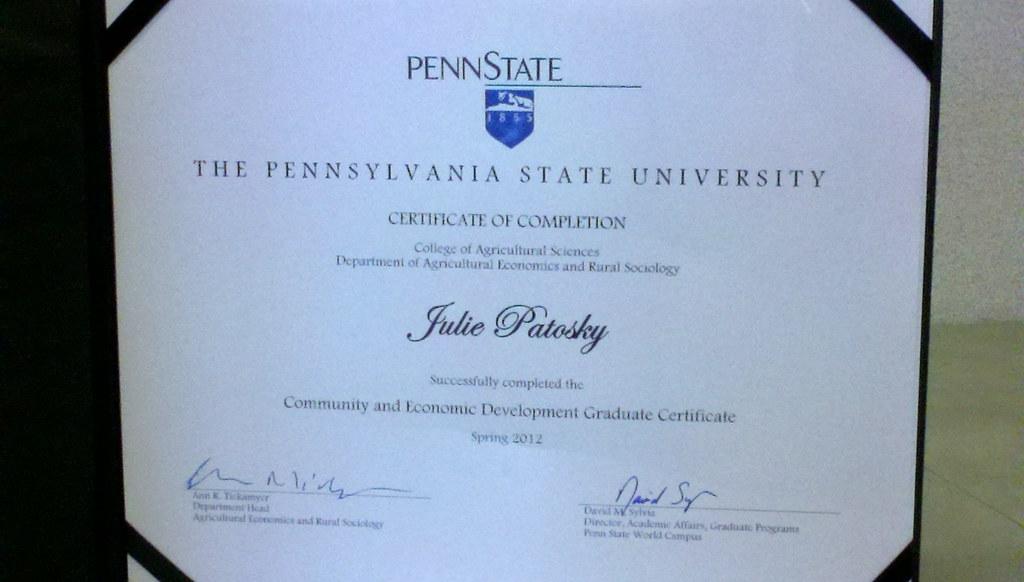 Cedev Graduate Certificate Julie P Flickr