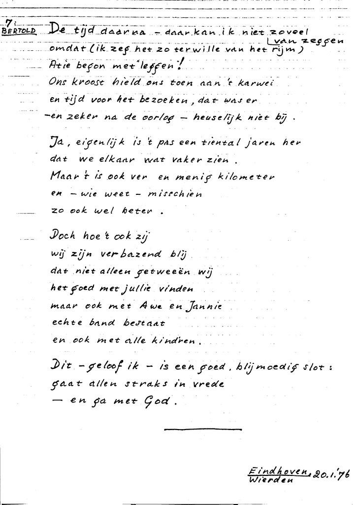 Verwonderend 19760120 A8060-08.7 Gedicht tgv Gouden bruiloft Opa Wim & …   Flickr LF-87