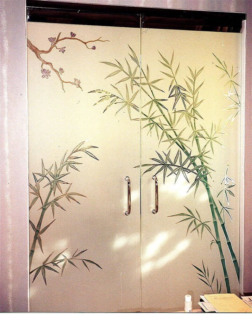 etched decorative architectural art glass frameless door b flickr
