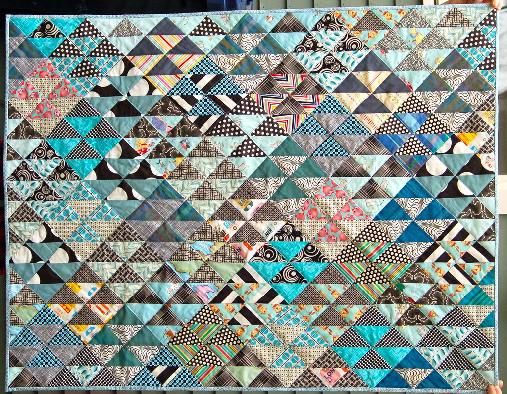half square triangle baby quilt | Done, in the mail...... | Flickr : half square triangle quilt - Adamdwight.com