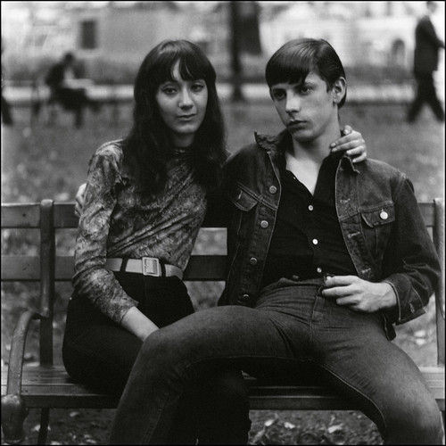 'Young Couple on a Bench' by Diane Arbus (1965) | by Greatest Paka Photography