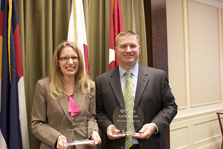 Counting on Progress: L-R, CEP's Two Volunteers of the Year! Congratulations Laura Suhr of Northern Trust and Andrew Roberson of Latham & Watkins 52 | by econ_progress